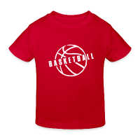 Kids' Organic T-shirt with design Basketball Slogan Ball