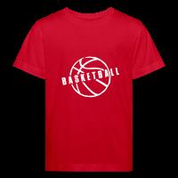 Kids' Organic T-shirt with design Basketball Slogan Ball
