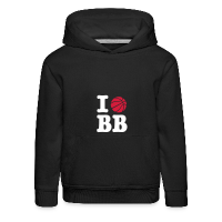 Kids' Premium Hoodie with design I Love Basketball