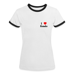 Frauenkontrastshirt I Love Kendo - Frauen Kontrast-T-Shirt