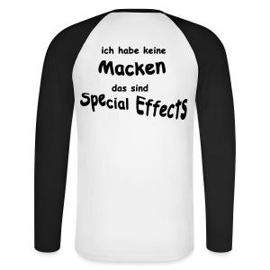 Keine Macken - Männer Baseballshirt langarm