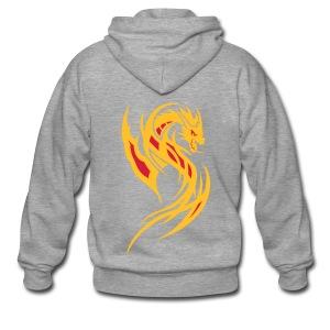 Feuer Drache - Männer Premium Kapuzenjacke