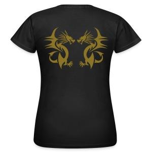 Drache gespiegelt - Frauen T-Shirt