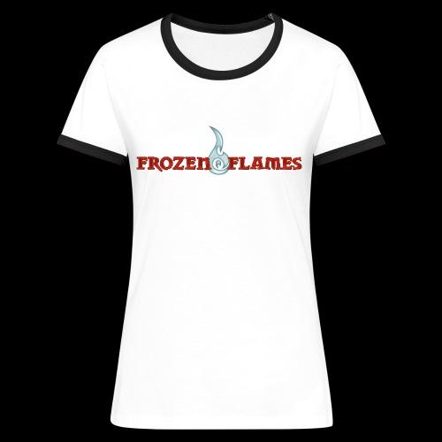 Frauen Kontrast-T-Shirt weiß/schwarz - Frauen Kontrast-T-Shirt