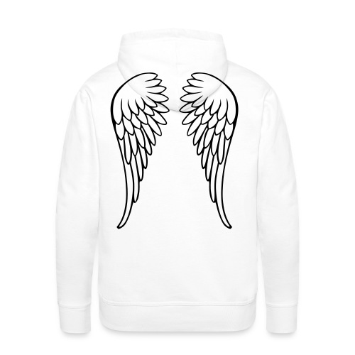 Angel working - Sudadera con capucha premium para hombre