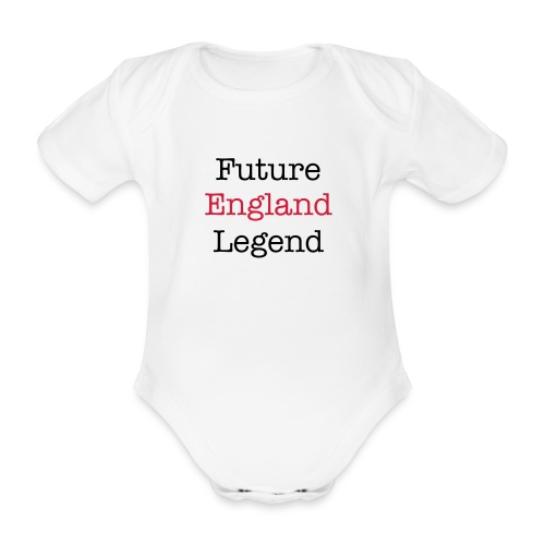 future england legend aio - Organic Short-sleeved Baby Bodysuit