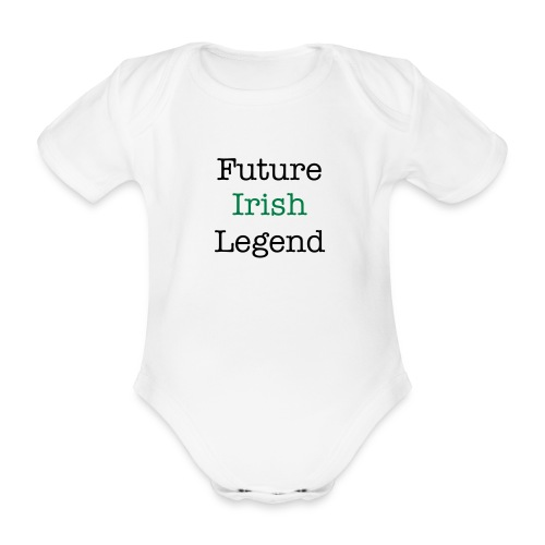 future irish legend aio - Organic Short-sleeved Baby Bodysuit