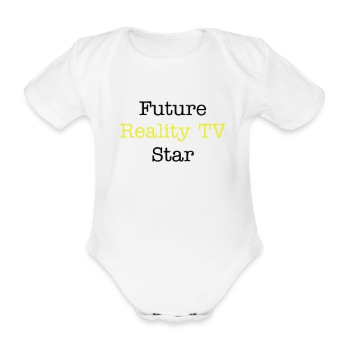 future reality tv star aio - Organic Short-sleeved Baby Bodysuit