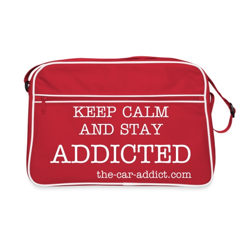 KEEP-CALM-AND-STAY-ADDICTED-BAG - Retro Bag