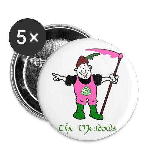 Buttons klein Meadows pink 5er Pack  - Buttons klein 25 mm (5er Pack)