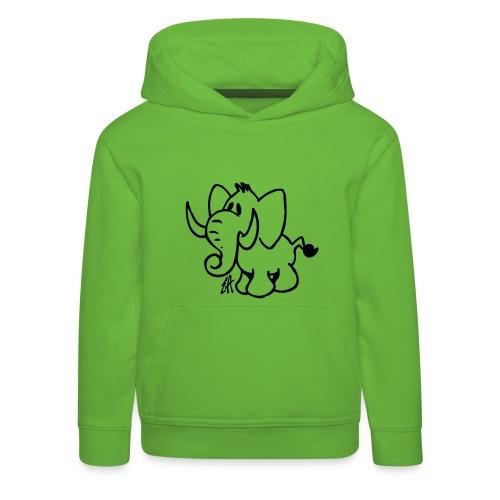 Elefante - Felpa con cappuccio Premium per bambini