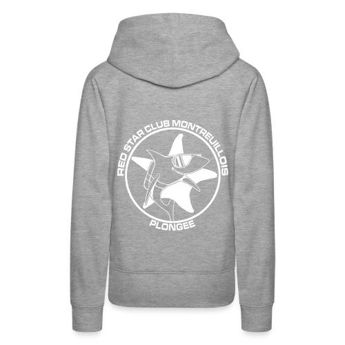 TSweat à capuche Femme Gris - Sweat-shirt à capuche Premium pour femmes