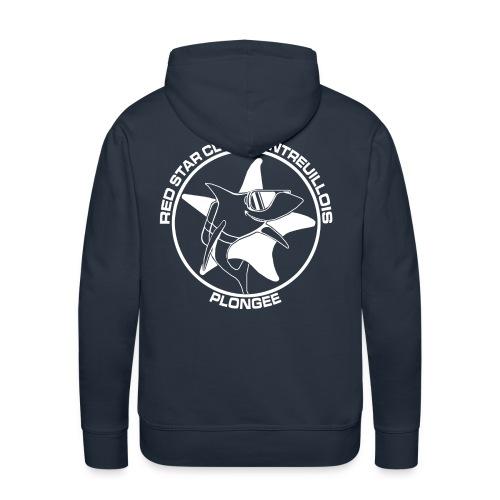 Sweat capuche Homme Marine - Sweat-shirt à capuche Premium pour hommes