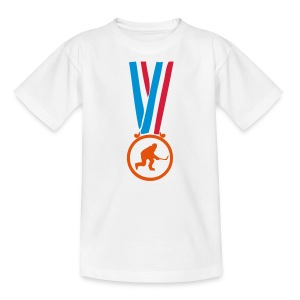 champion medaille sport hockey glace Tee shirts Enfants - T-shirt Ado