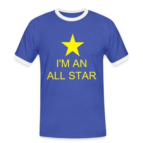 All Stars Blue/White/Yellow Mens Shirt - Men's Ringer Shirt