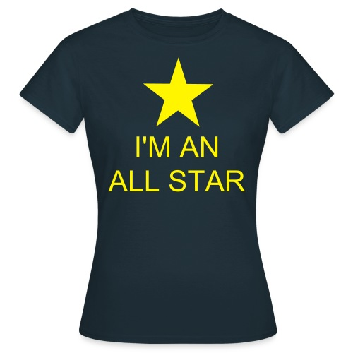 All Stars Navy/Yellow Womens Shirt - Women's T-Shirt