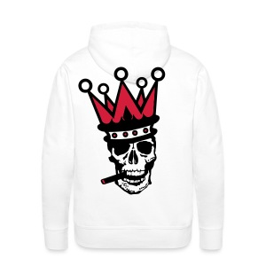 tete mort couronne crown skull2 Sweat-shirts - Sweat-shirt à capuche Premium pour hommes