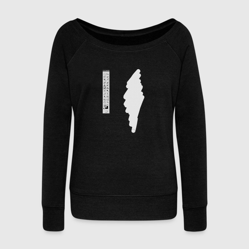 Graphic Designer (fake erase) Sweat-shirts - Pull Femme col bateau de Bella