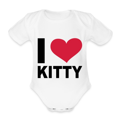 body manches courtes I love Kitty  - Body bébé bio manches courtes