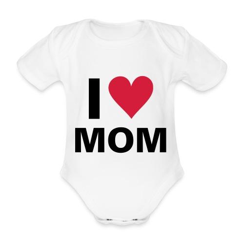 body manches courtes I love mom  - Body bébé bio manches courtes