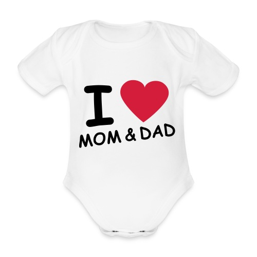 body manches courtes I love mom & dad - Body bébé bio manches courtes
