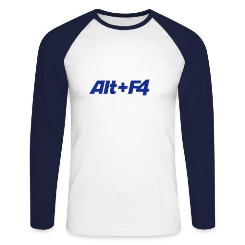 Alt F4 - Männer Baseballshirt langarm