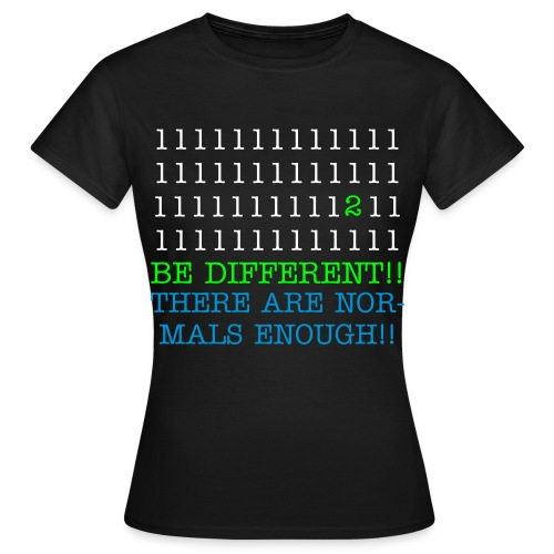 Be Different T-shirt Woman - Vrouwen T-shirt