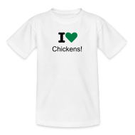 Shirts ~ Teenage T-shirt ~ I Love Chickens! logo Children's T