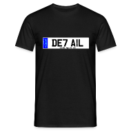 T-Shirts ~ Men's T-Shirt ~ Detailing World 'DETAIL' Numberplate T-Shirt
