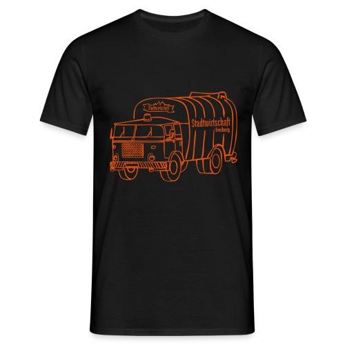 stawi Herren T-Shirt (BOBR  Brustprint orange)  - Männer T-Shirt