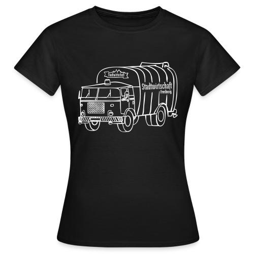stawi Damen T-Shirt (BOBR Brustprint weiß) - Frauen T-Shirt