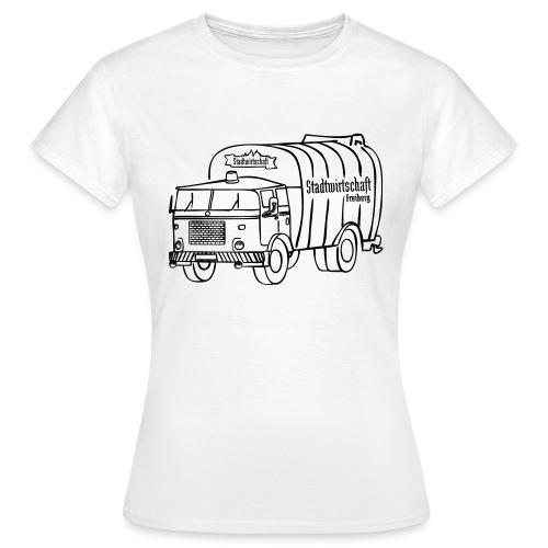 stawi Damen T-Shirt (BOBR Brustprint schwarz) - Frauen T-Shirt