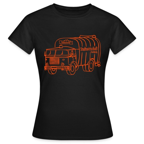 stawi Damen T-Shirt (BOBR Brustprint orange) - Frauen T-Shirt