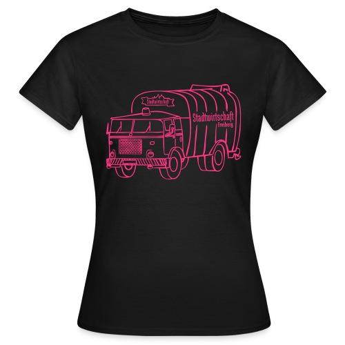 stawi Damen T-Shirt (BOBR Brustprint neonpink)  - Frauen T-Shirt