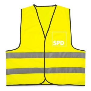 SPD Warnweste Logo vorne und hinten - Warnweste