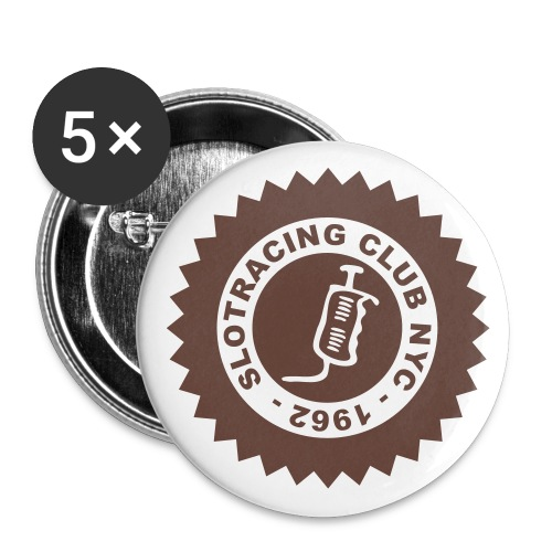 Slotracing Club NYC Button - Buttons groß 56 mm (5er Pack)