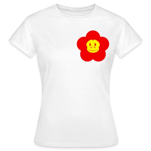 Retro Monkey Blume Girlie - Frauen T-Shirt