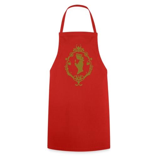 Grill- und Kochschürze Schleife Rot-Gold - Kochschürze