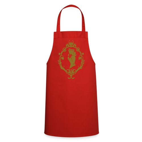 Grill- und Kochschürze Band Rot-Gold - Kochschürze