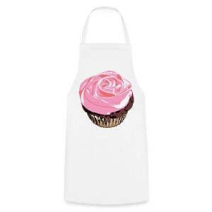 Cupcake on White Apron - Cooking Apron