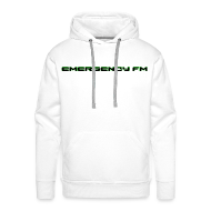 Hoodies & Sweatshirts ~ Men's Premium Hoodie ~ EmergencyFM Text Logo Hoodie