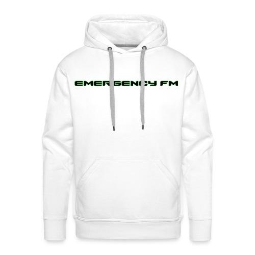 EmergencyFM Text Logo Hoodie - Men's Premium Hoodie