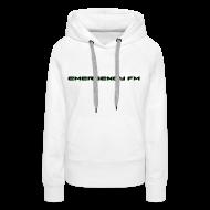 Hoodies & Sweatshirts ~ Women's Premium Hoodie ~ EmergencyFM Text Logo Hoodie
