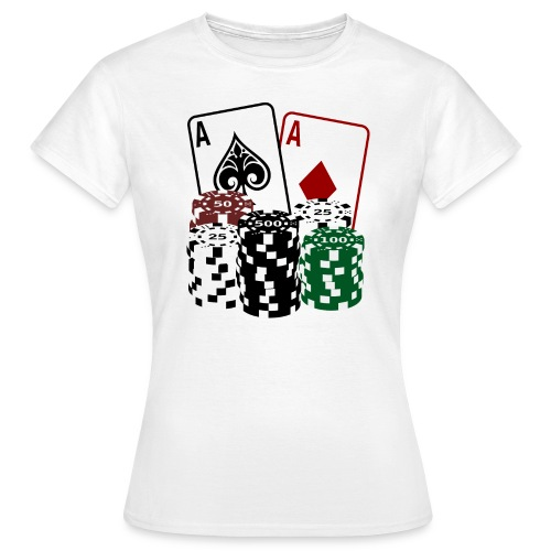 Poker Cards and Chips - Frauen T-Shirt