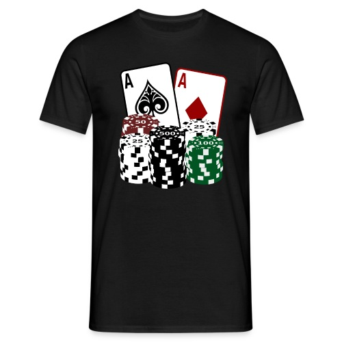 Poker Cards and Chips - Männer T-Shirt