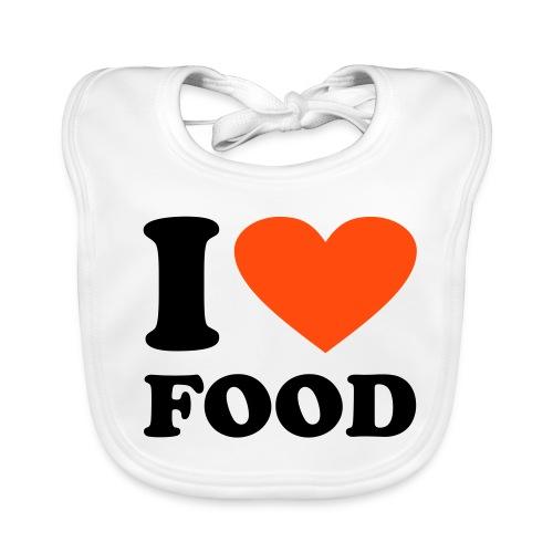 *I love food* Lätzchen - Baby Bio-Lätzchen