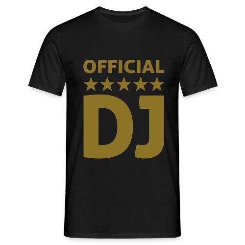 mannen t-shirt golden official VIP DJ stars - Mannen T-shirt