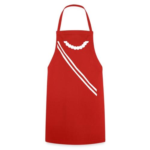 Grill- und Kochschürze Bandflunse Rot-Weiß - Kochschürze