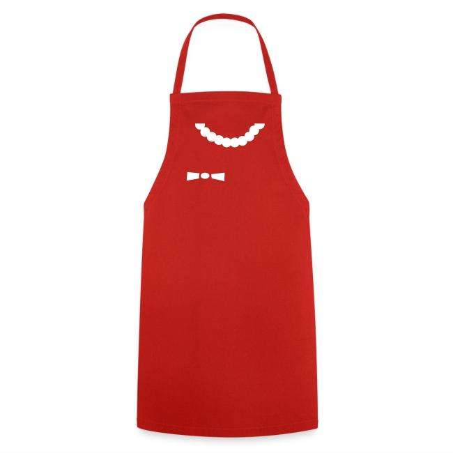 """Grill- und Kochschürze """"Schleifenhörnchen"""" Rot-Weiß"""