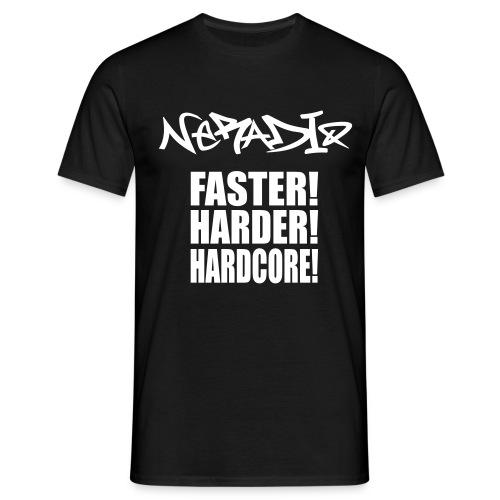 NERadio Tshirt - Hardcore! - T-shirt herr